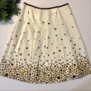 Haley & Kate Polka Dot Flare Skirt